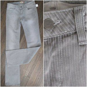 NWT PAIGE Benedict Canyon Gray Striped Jeans